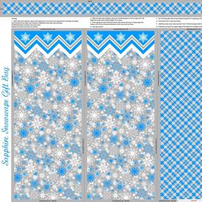 Sapphire Snowscape Gift Bag