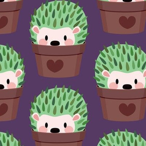 Large Cactus-Hedgehog (dark purple)
