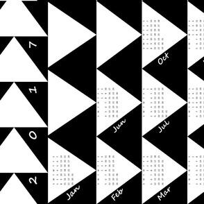 Black & White Calendar 2017