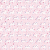 Dancing Unicorn in Rose Cloud