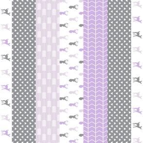 Girl Woodland (purple) - 1 yard cut