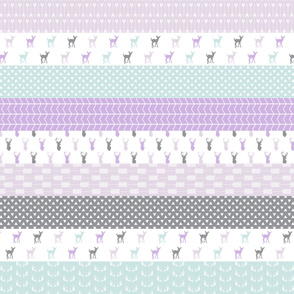 Girl woodland (purple and blue) || wholecloth