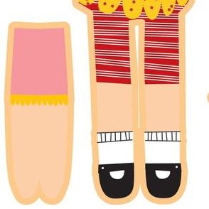 cut and sew doll fat  quarter