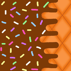 Chocolate Ice Cream Border