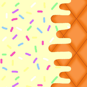 Vanilla Ice Cream Border