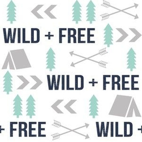 woodland boys design mint grey navy blue bear moose forest arrow kids nursery baby print