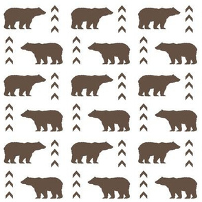 bears brown bears chevron stripes boys nursery baby kids outdoors fabric camping