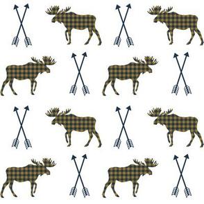 moose arrows checked arrows moose design boys nursery camping