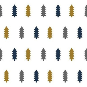 trees forest gold charcoal navy blue tree fabrics navy blue fabrics