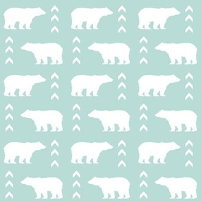 bear mint bears fabric baby boy nursery kids bear fabric