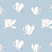 Magnolia blossom blue
