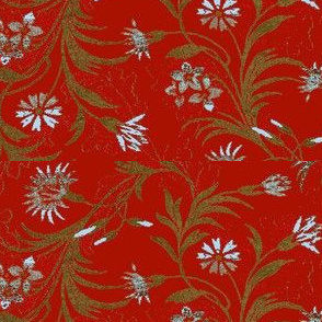 Pompeii Red Brocade