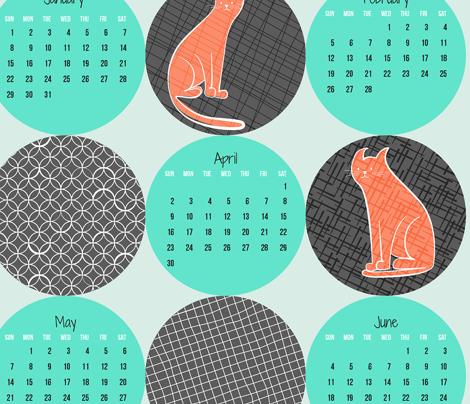 2017 Patterned Cats Calendar - Citrus Twist