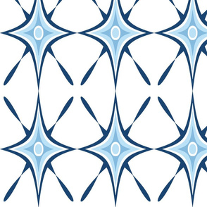 Diamond Curve X Lattice Blue