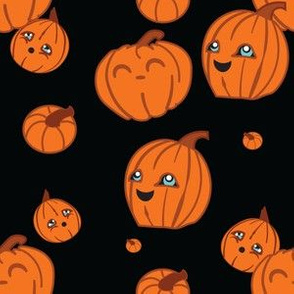 Kawaii Pumpkins Blue Eyes