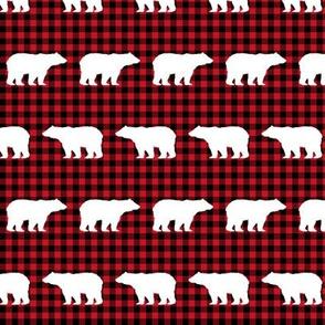 buffalo plaid bears kids nursery bear nursery red and black hunting camping outdoors
