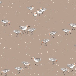 collective: fling of sandpipers 3  [sepia]