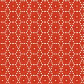 dots chicken wire red