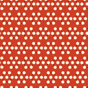 dots hex pattern red