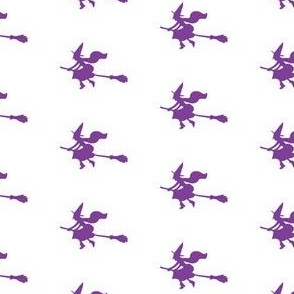 Witch Silhouettes – Purple on White