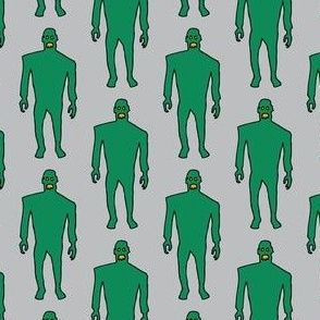 Zombies - green on grey