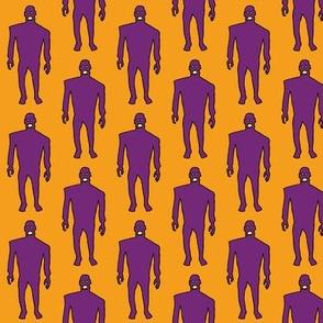 Zombies - purple on orange