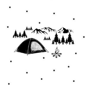 Camping Adventure with Stars