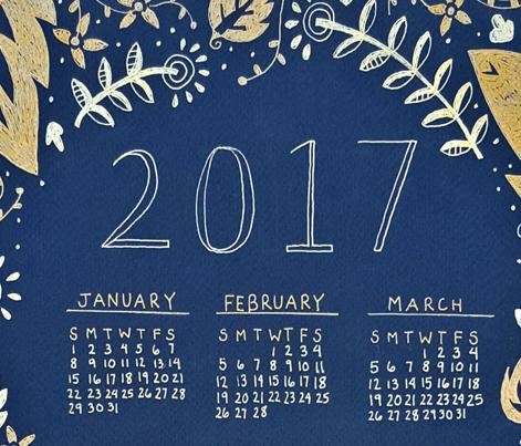 2017 Metallic Tea Towel