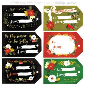 Merry Fields Christmas Tags