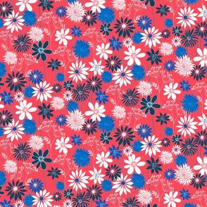 Red summer floral
