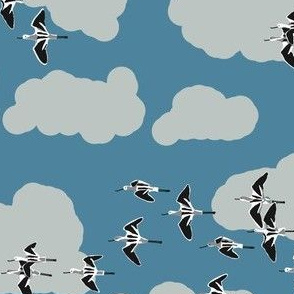 collective: colony of avocets 5 [slate]
