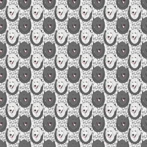 Standard Poodle horseshoe portraits - small