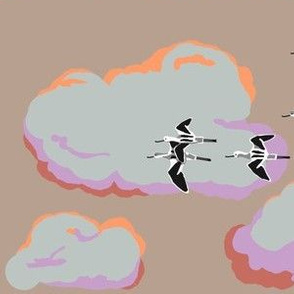 collective: colony of avocets 4 [sepia]