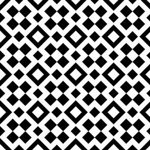 Black + White Geometric Squares