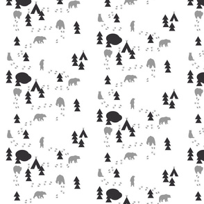 Bear Trail / navy mint and grey-ch
