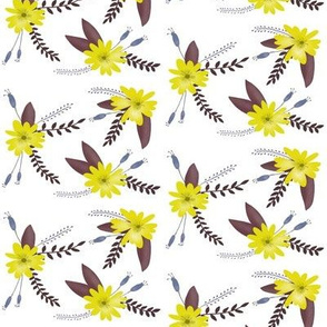 Yellow Flowers with Purple Leaves - Smaller Scale