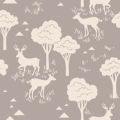Tonal Baby Deer Trees_Natural