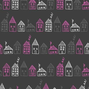 Happy Houses (Pink)