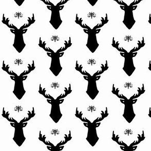 Stag Black and White