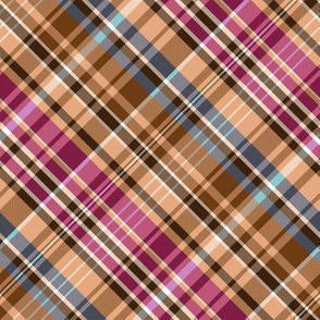 Mainly Sand and Burgundy Madras Plaid Larger Scale