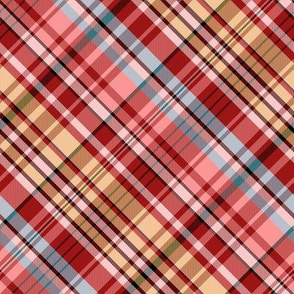Mainly Red and Yellow Madras Plaid Larger Scale
