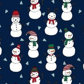snowman // christmas snowmen cute xmas holiday illustrated fabric by andrea lauren andrea lauren fabrics christmas sewing projects cute christmas stocking fabrics