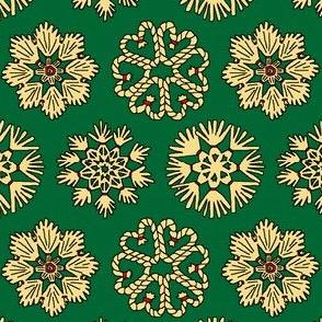Straw Star Ornaments on Green