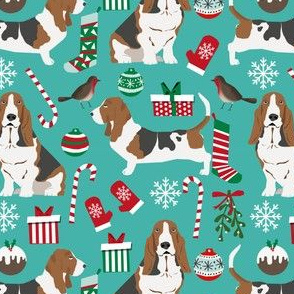 basset hound christmas design xmas holiday christmas fabrics cute holiday xmas designs best dog fabrics