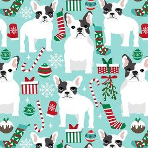 french bulldogs christmas fabric xmas christmas design cute dogs christmas dog fabric cute xmas