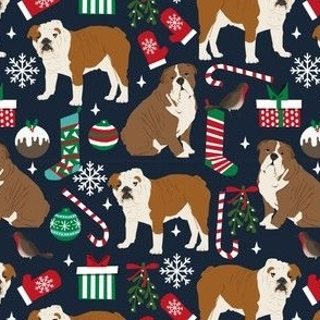 english bulldogs christmas fabric cute dogs dog fabric english bulldogs xmas holiday design fabric