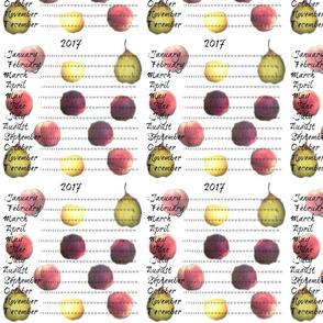 2017 Fruit Calendar