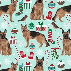 german shepherds christmas dog fabric dogs fabric cute xmas christmas fabrics dog fabric