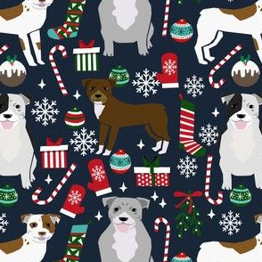 pitbull terrier christmas fabric pitbulls christmas fabrics pitbull terrier xmas dog fabrics