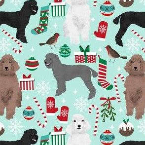 poodle christmas fabric cute poodle xmas design red and green poodle dog christmas fabric